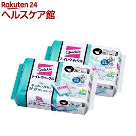 トイレクイックル トイレ掃除シート ジャンボパック 詰め替え(20枚入*2個セット)【クイックル】