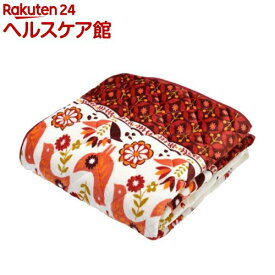 西川 蓄熱わた入り敷きパッド ぬくもりの森シリーズ 2EPR7802 レッド(1枚入)【ぬくもりの森】