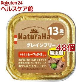 ナチュラハ グレインフリー やわらかビーフ&野菜入り 13歳以上用(100g*48コセット)[ドッグフード]