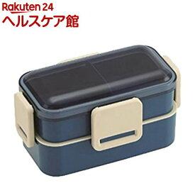 2段ふわっと弁当箱 レトロフレンチカラー ネイビー 600ml PFLW4(1コ入)