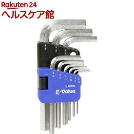 E-Value 六角棒レンチセット ミリ ELHW09NL(9本組)【E-Value】