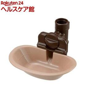リッチェル ペット用 ウォーターディッシュ ブラウン Mサイズ(1コ入)