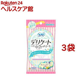 ソフィ デリケートウェット グリーンの香り(6枚*2コ入*3コセット)【wmc_5】【ソフィ】
