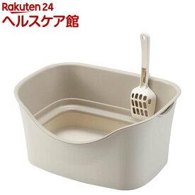 ラクラク猫トイレ ダブルブロック アイボリー(1セット)