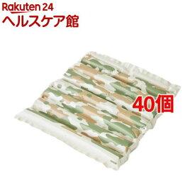 エアクッション ザブポン スタイル カモフラ柄 グリーン(1枚入*40個セット)【ザブポン】