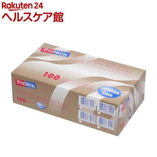 メディコム ディステック ラテックスグローブ パウダーフリー Mサイズ D-1124C(100枚入)【メディコム】