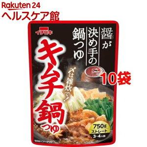 キムチ鍋つゆ ストレート(750g*10袋セット)【イチビキ】