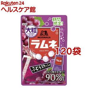 森永 大粒ラムネ ぶどうスカッシュ(38g*120袋セット)【森永製菓】