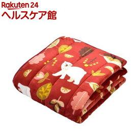 西川 蓄熱わた入り敷きパッド ぬくもりの森シリーズ 2EPR7803 レッド(1枚入)【ぬくもりの森】