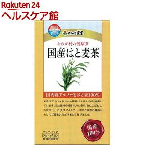おらが村の健康茶 国産はと麦茶(5g*24袋入)【おらが村】