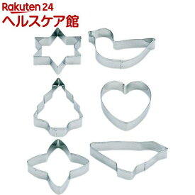 カイハウス セレクト クッキー抜型 浅型6コ入セット DL6190(1セット)【Kai House SELECT】