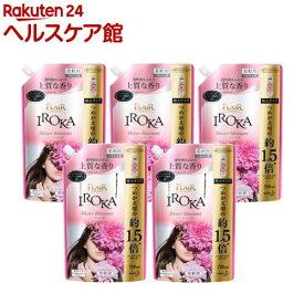 フレア フレグランス IROKA 柔軟剤 シアーブロッサムの香り 詰め替え 大サイズ(710ml*5袋セット)【フレアフレグランスIROKA】