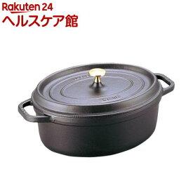 ストウブ ピコ・ココット オーバル 17cm 黒 40509-482(1コ入)【ストウブ】