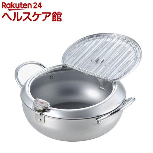 味楽亭II 温度計付き フタ付天ぷら鍋 24cm SJ1025(1コ入)