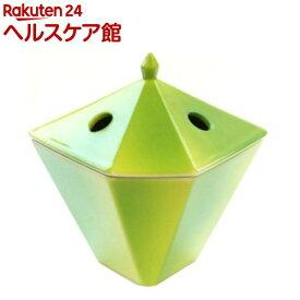 縁香炉 黄緑(1コ入)【日本香堂】