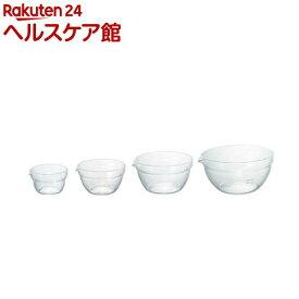 ハリオ 耐熱ガラス製 片口ボール KB-2518(4コ入)【ハリオ】