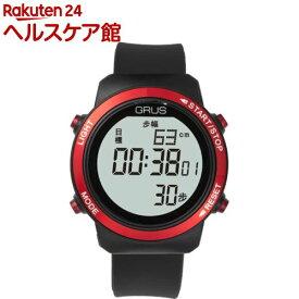 GRUS 歩幅計測機能付ウォーキングウォッチ ブラック*レッド GRS001-01(1コ入)【GRUS(グルス)】