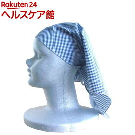 三角巾 ギンガム青(1枚入)