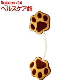 ペットプロ 足型ひっぱりロープ ブラウン(1コ入)