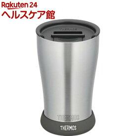 サーモス 真空断熱タンブラー JDE-420 フタ・ソコカバーセット ブラック(420mL)【サーモス(THERMOS)】