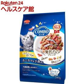 コンボ 猫下部尿路の健康維持 まぐろ味・カニカマ・小魚添え(140g*5袋入)【more20】【コンボ(COMBO)】[キャットフード]