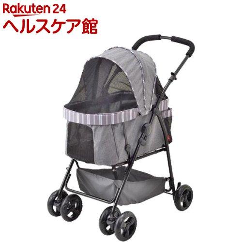 わんわんカート多頭用DXαストライプグレー(1台)【わんわんカート】【送料無料】