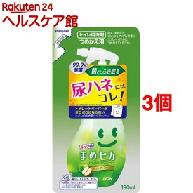 ルック まめピカ トイレのふき取りクリーナー つめかえ用(190ml*3コセット)【ルック】