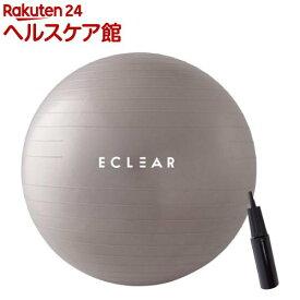 エレコム バランスボール 65cm ハンドポンプ付き エクササイズ グレー HCF-BB65GY(1個)