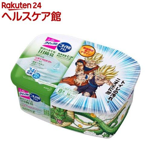 【企画品】トイレクイックル ニオイ予防プラス 容器入り ドラゴンボールデザイン(8枚入)【クイックル】