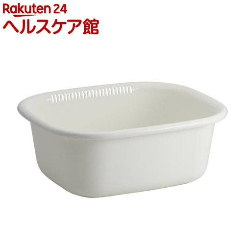 Nポゼ 洗桶 角型 ホワイト(1コ入)【ポゼ(シンク廻り商品)】