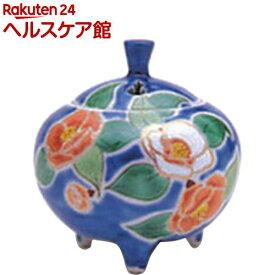 香炉 秀美 青地二色椿(九谷焼)(1個)【日本香堂】