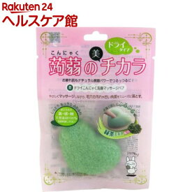 ドライこんにゃく洗顔マッサージパフ 緑茶(1コ入)