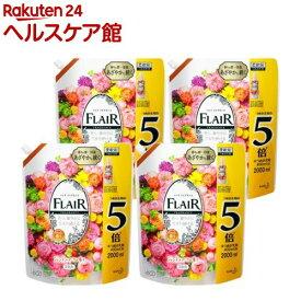 フレアフレグランス 柔軟剤 ジェントル&ブーケ つめかえ用 メガサイズ 梱販売用(2000ml*4袋入)【フレア フレグランス】