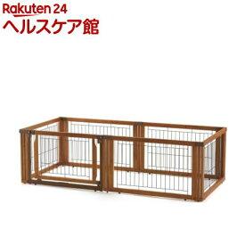 リッチェル ペット用 木製3ウェイサークル 6面50H ブラウン(1台)