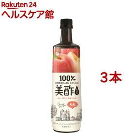 美酢(ミチョ) 桃(900ml*3本セット)【美酢(ミチョ)】
