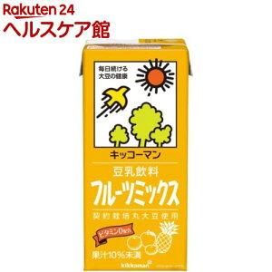 キッコーマン 豆乳飲料 フルーツミックス(1L*6本入)【キッコーマン】