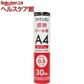 ミヨシ 各メーカー共用タイプ FAX用感熱ロール紙 30m巻 0.5インチ芯(10本入)【ミヨシ】