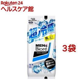 メンズビオレ 洗顔シート クール 卓上用(38枚入*3袋セット)【メンズビオレ】