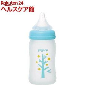 ピジョン 母乳実感 コーティング 耐熱ガラス製 ツリー柄 160ml(1コ入)【母乳実感】