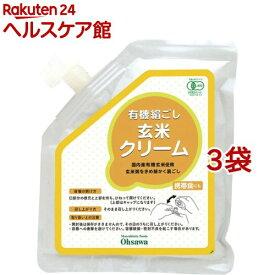 オーサワ 有機絹ごし玄米クリーム(チューブ容器入り)(200g*3袋セット)【オーサワ】