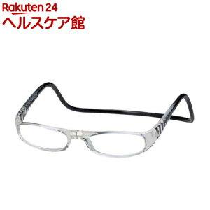 老眼鏡クリックユーロ(cLic euro) ブラック&クリアー +3.0(1コ入)