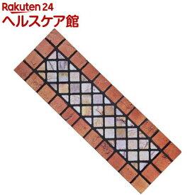 石タイル調の階段マット テラコッタ(1枚入)【コモライフ】