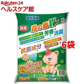 猫砂楽園 森の香ダブル(7L*6袋セット)【猫砂楽園】