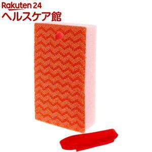 トレピカ フッ素ガード トイレ洗浄スポンジ ひも付き オレンジ GP033(1個)【トレピカ】