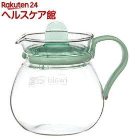 イワキ(iwaki) レンジのポット・プチティー グリーン K842-G(1コ入)【イワキ(iwaki)】