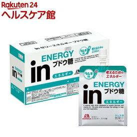 森永製菓 inゼリー エネルギーブドウ糖(180g*6個入)【ウイダー(Weider)】