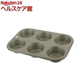 富士ホーロー ベイクウェアー マイフィンパンケーキ型 6P 57288(1コ入)【フジホーロー】