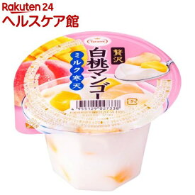 贅沢白桃マンゴー ミルク寒天(230g*6個入)