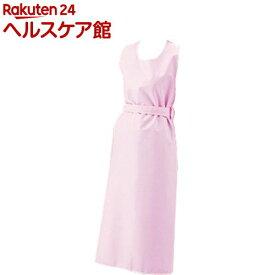 入浴介護用エプロン ひもタイプ ピンク L(1枚入)