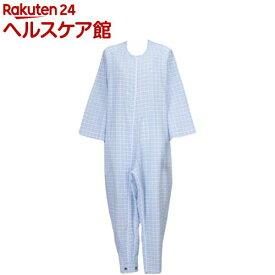 フドー ねまき 3型 スリーシーズン 水色格子 L(1枚入)【フドー】